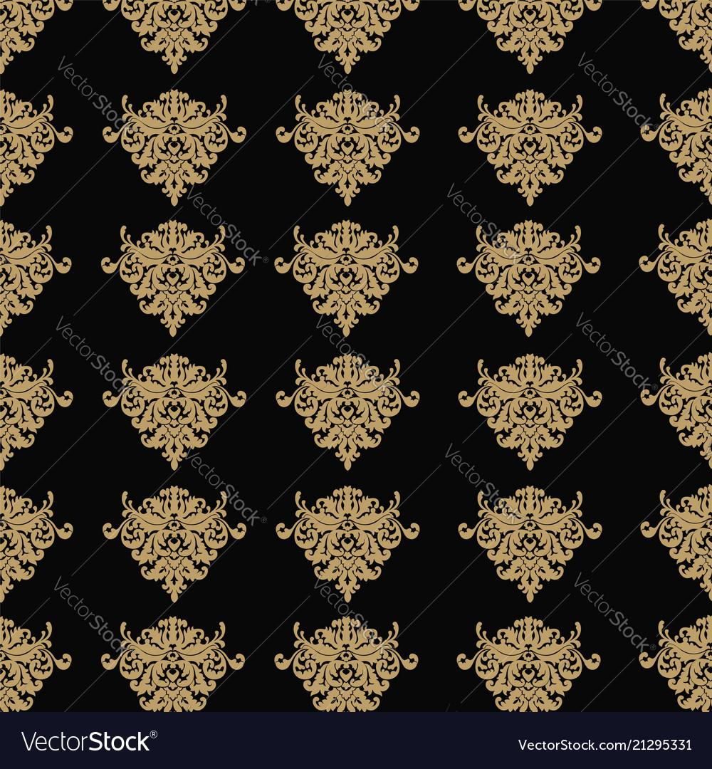Seamless luxury ornamental background damask