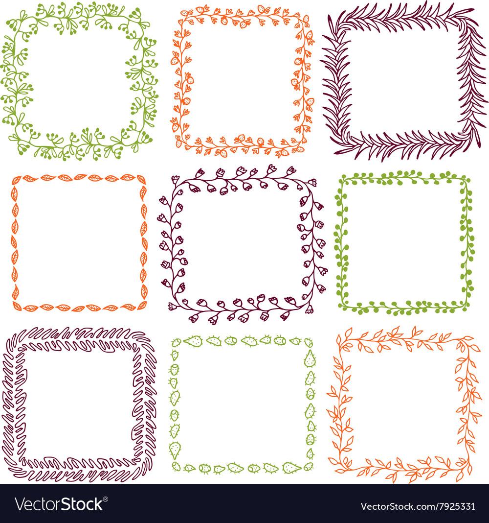 Set of 9 decorative square frames