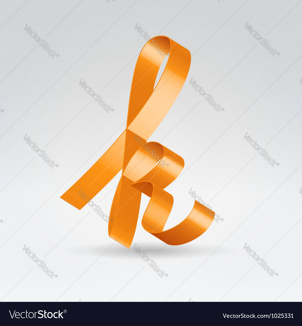 Silk ribbon letter abc