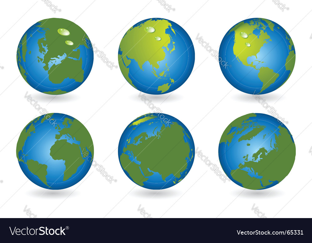 World Map 3d Globe Series Royalty Free Vector Image