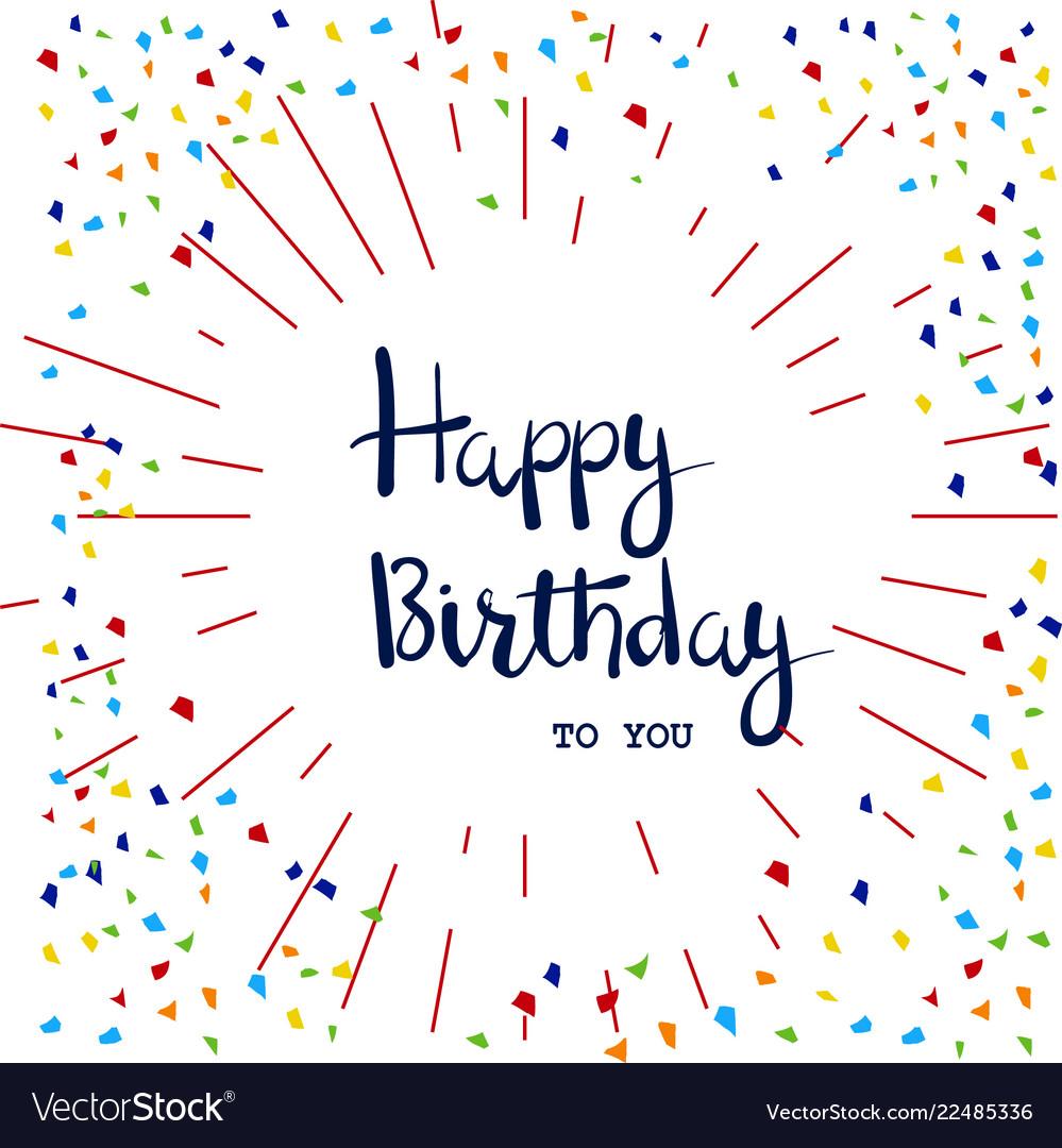 Happy birthday hand written lettering card