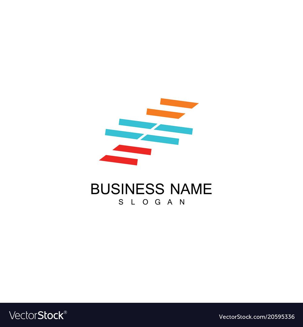 Line stripe business logo