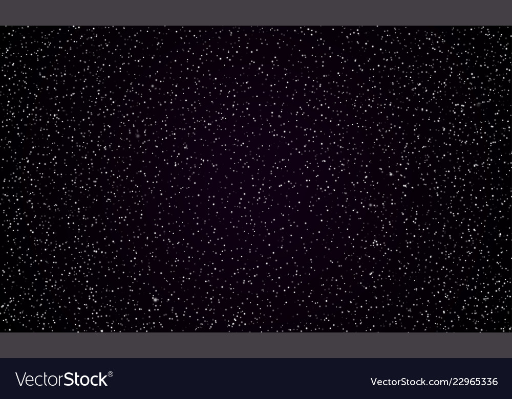 Starry Sky Stars Twinkle Space Background Vector Image