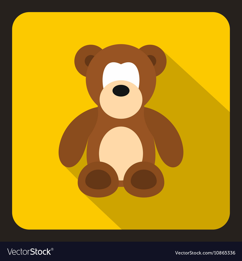 teddy bear icon flat style royalty free vector image