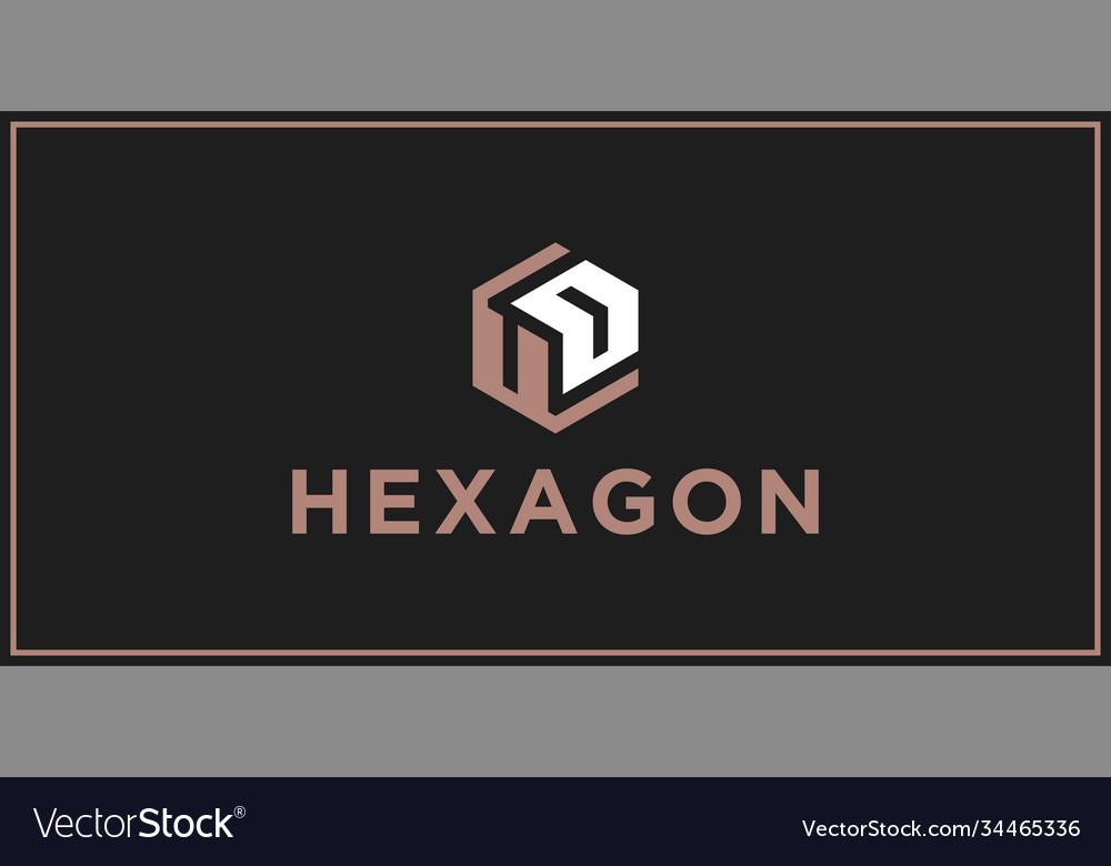 Ud hexagon logo design inspiration