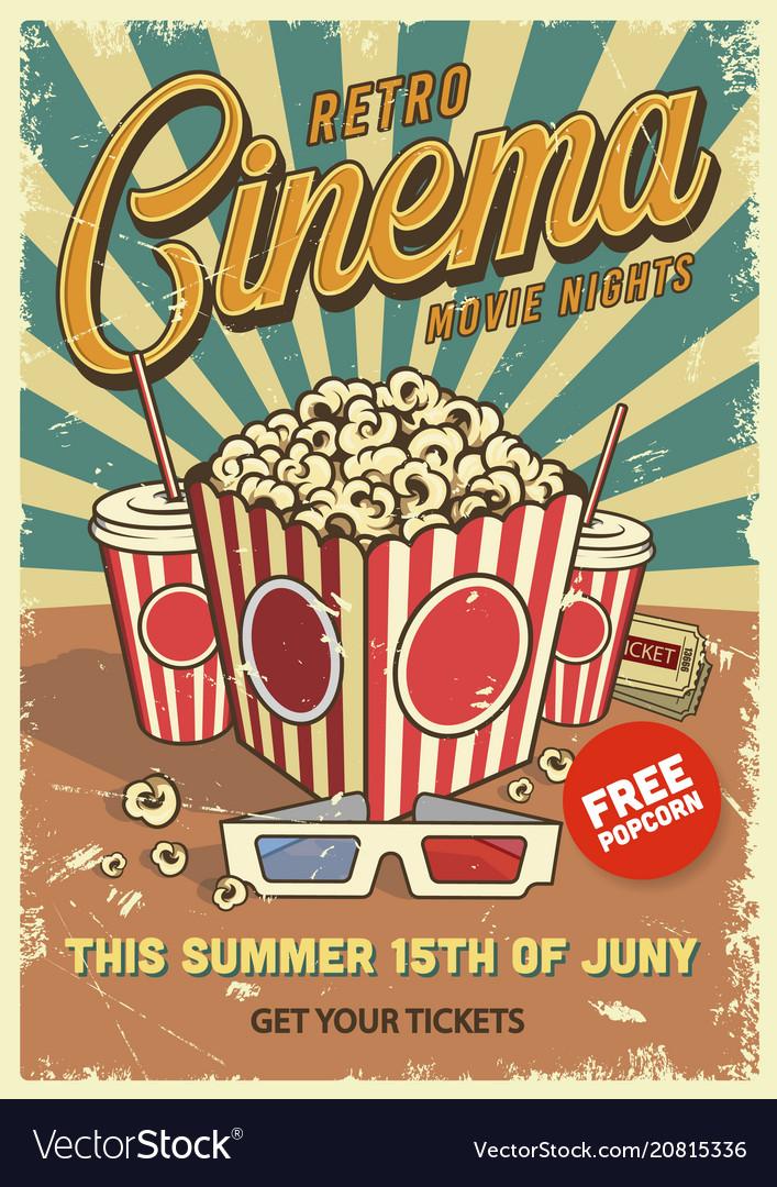Vintage cinema poster