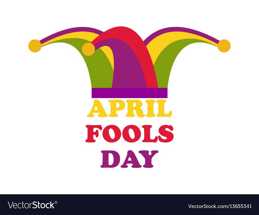 April fools day jester hat cap and bells