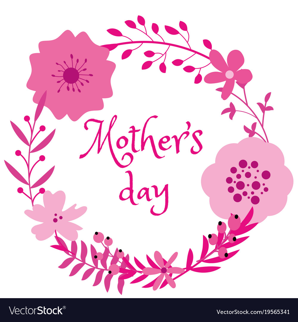Beautiful violet frame design on mothers day Vector Image