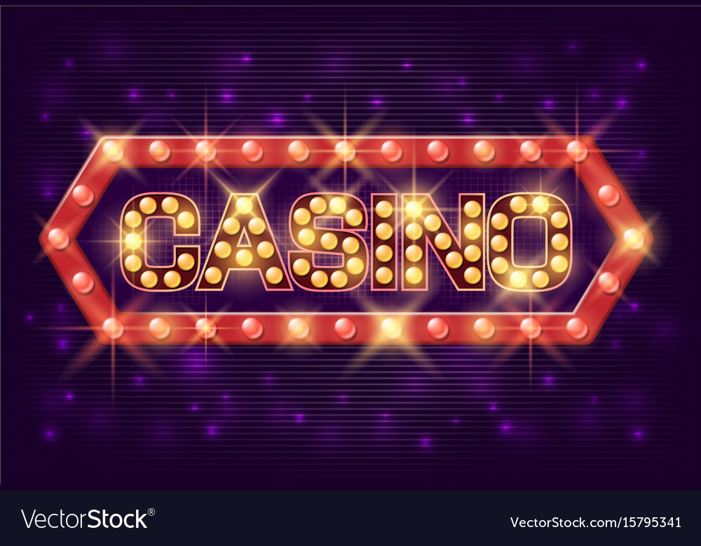 Casino poster vintage style casino banner