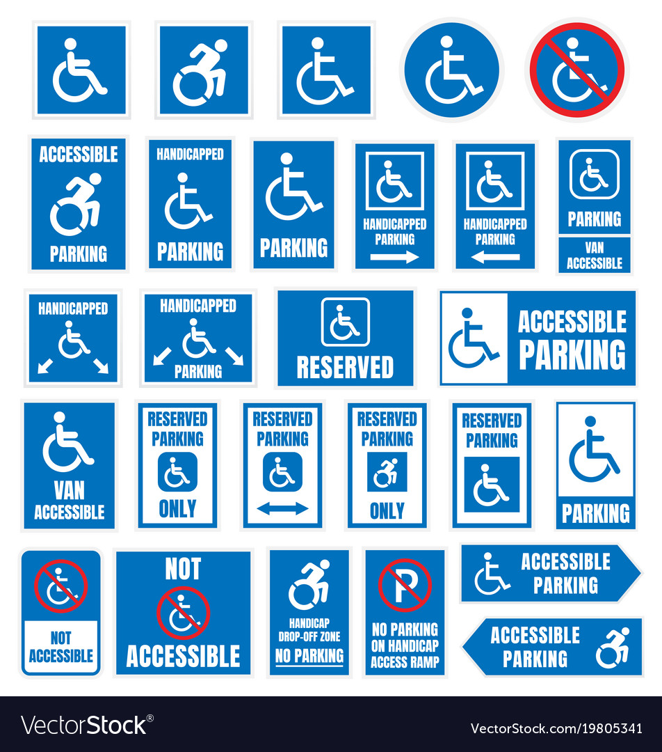 Disabled parking sign accesible parking