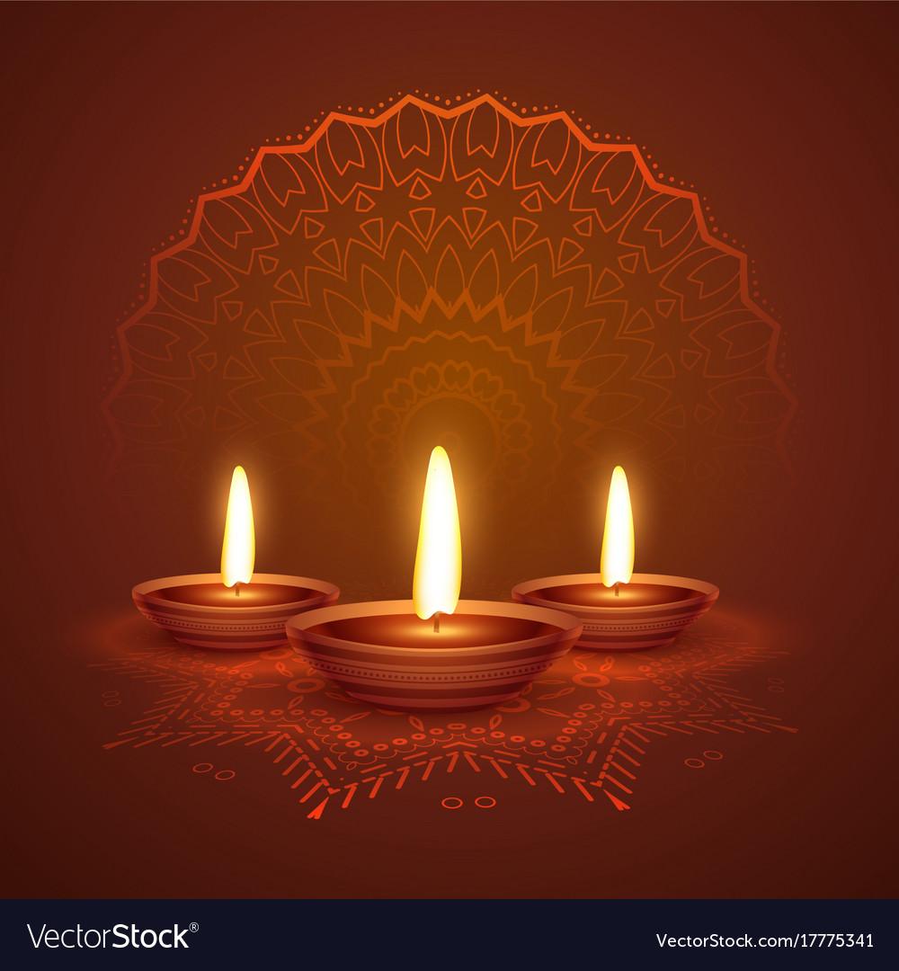 Diwali festival diya beautiful background with