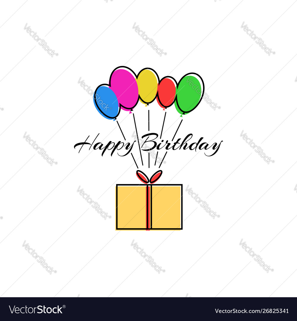 Happy birthday party greeting card or poster