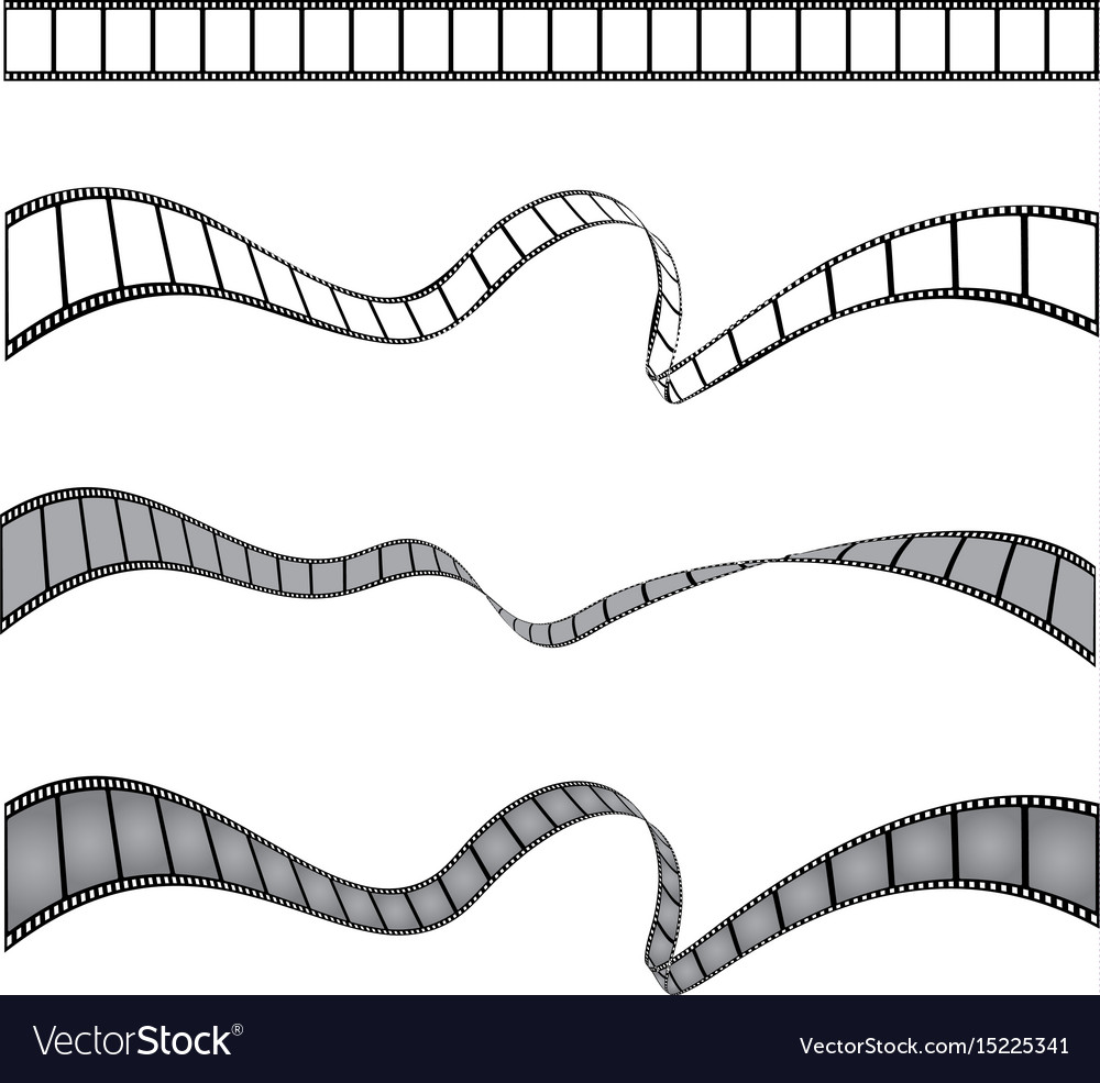 Set of films stripes vector image