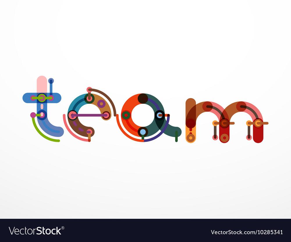 Team word lettering banner