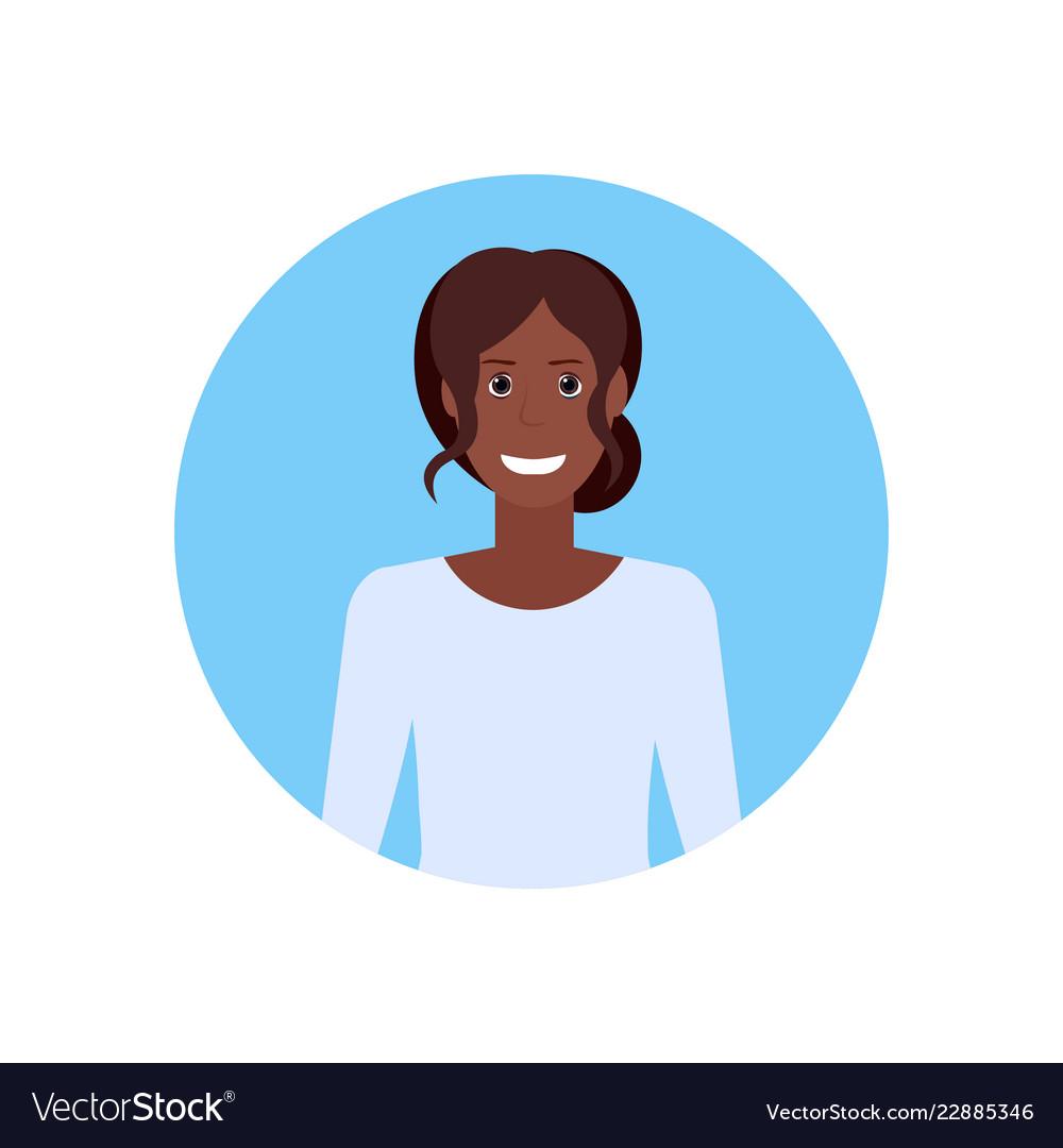 African american businesswoman face avatar
