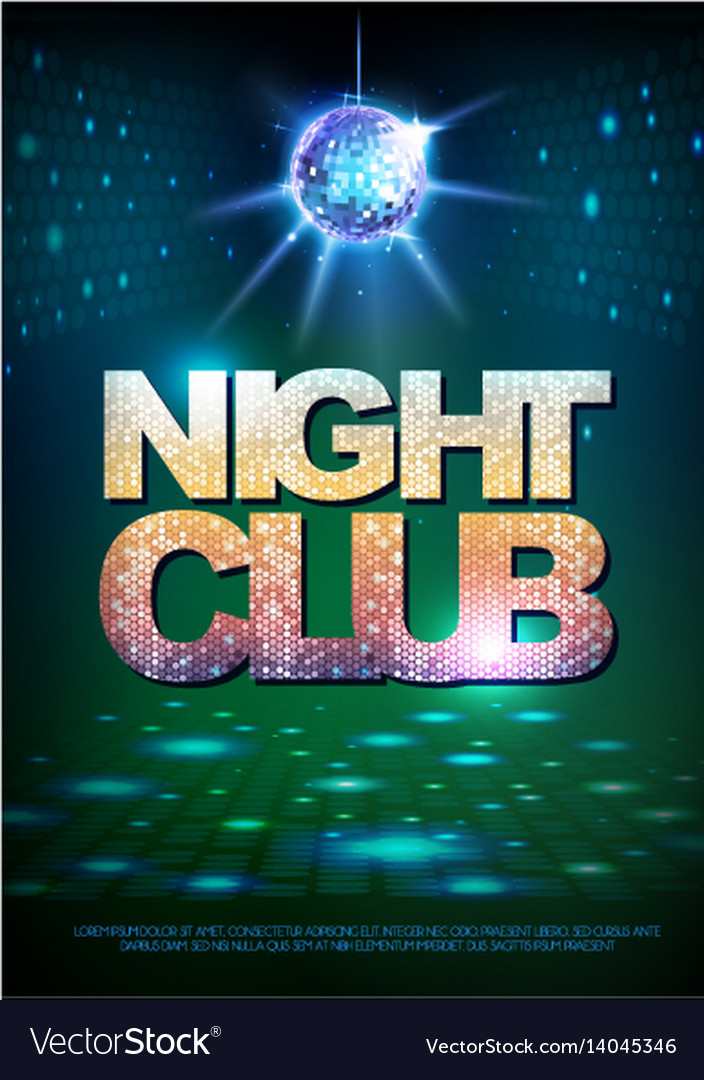 Disco ball background disco poster night club