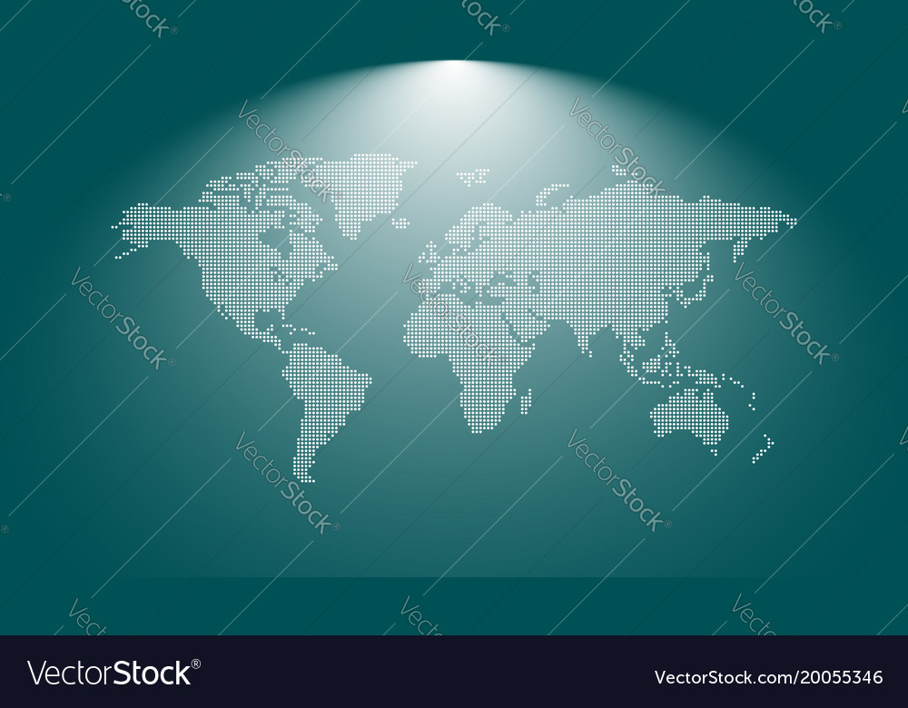 Dotted blank world map world map template for vector image