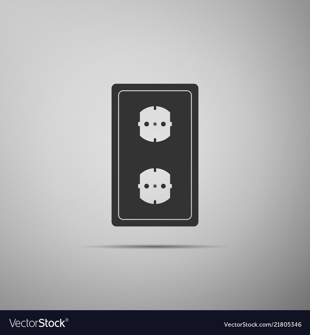 Electrical Outlet Icon Power Socket Rosette Sign Vector Image