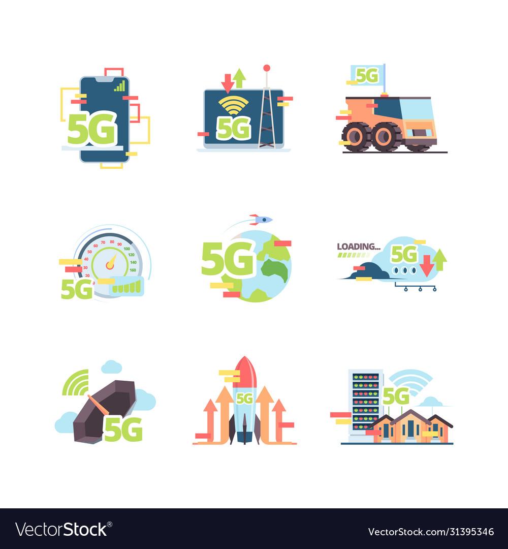 Fast 5g internet set high speed wi-fi in