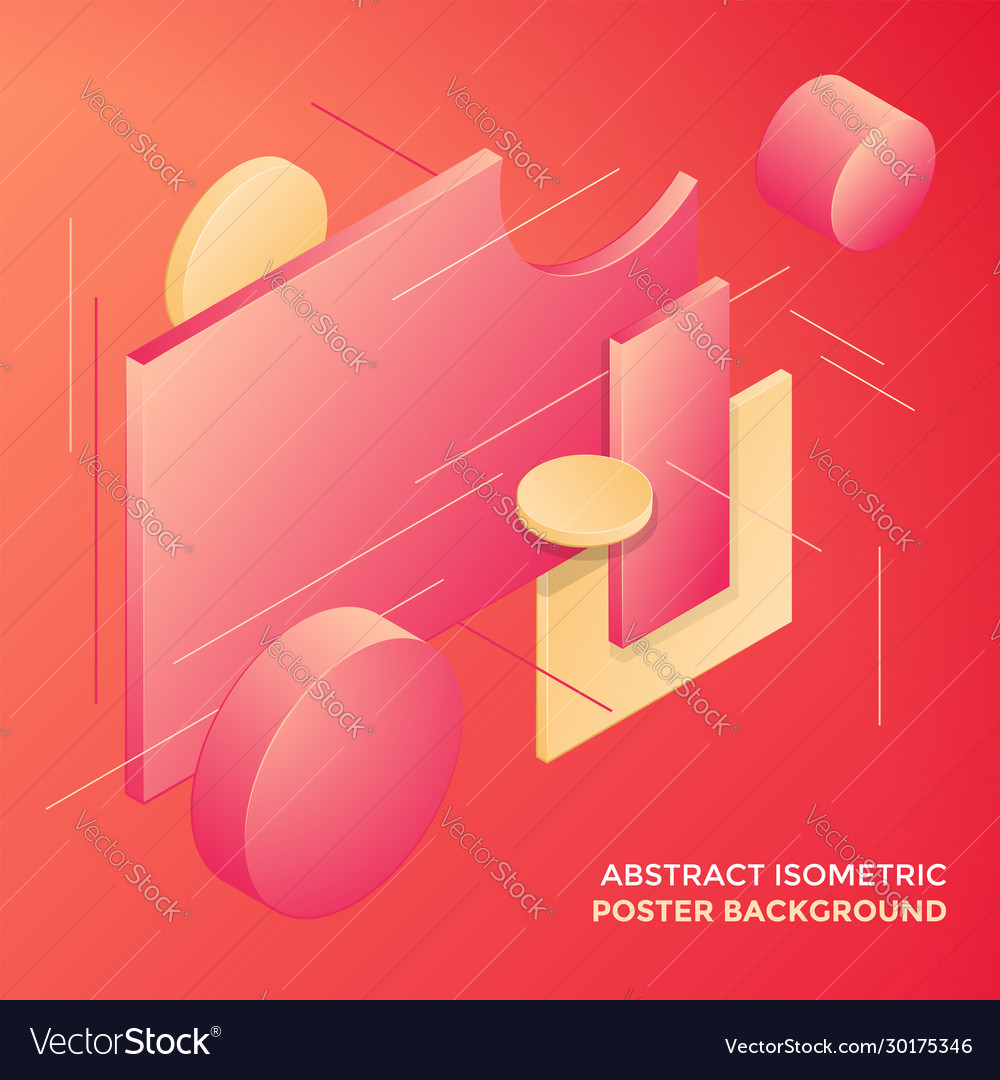 Geometric abstract isometric design background