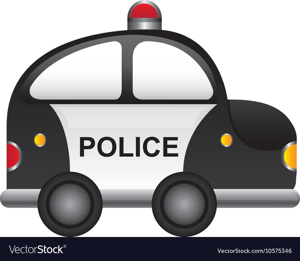Police patrol vehicle cartoon