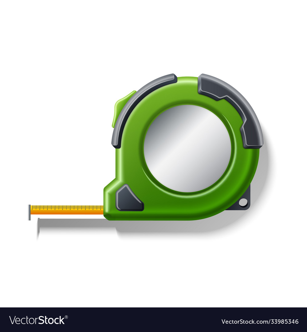Realistic measuring tape roulette 3d icon