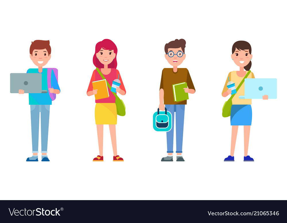 Students smiling collection