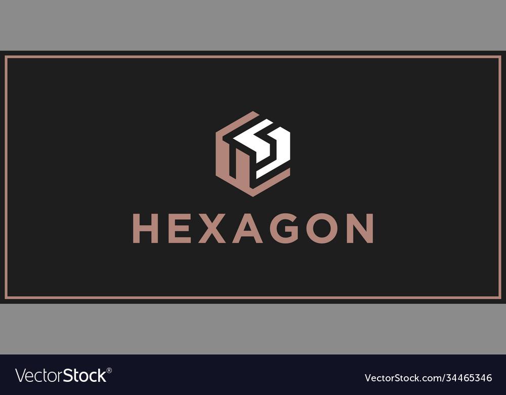 Us hexagon logo design inspiration