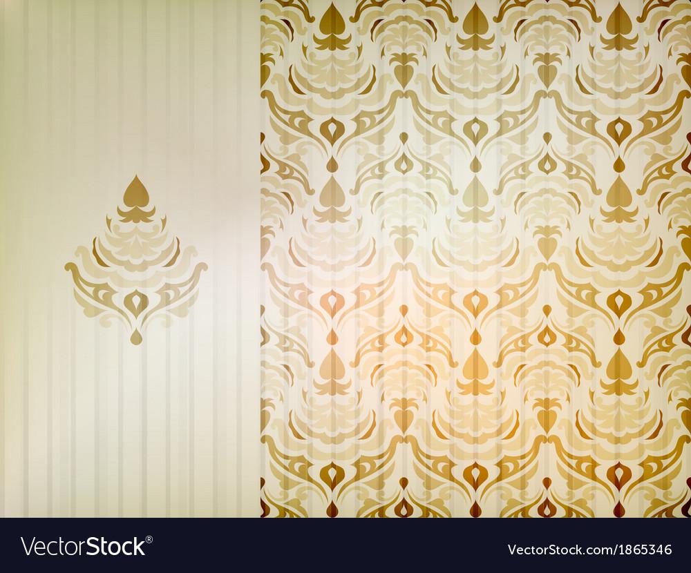 Vintage damask ornamental background