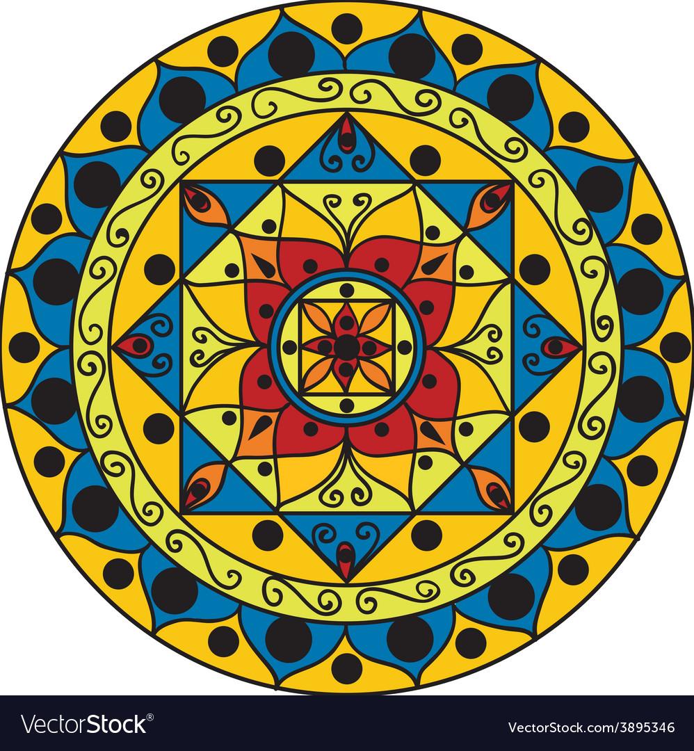 Yellow-blue mandala