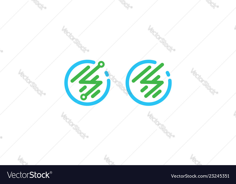 Abstract communication icon logo