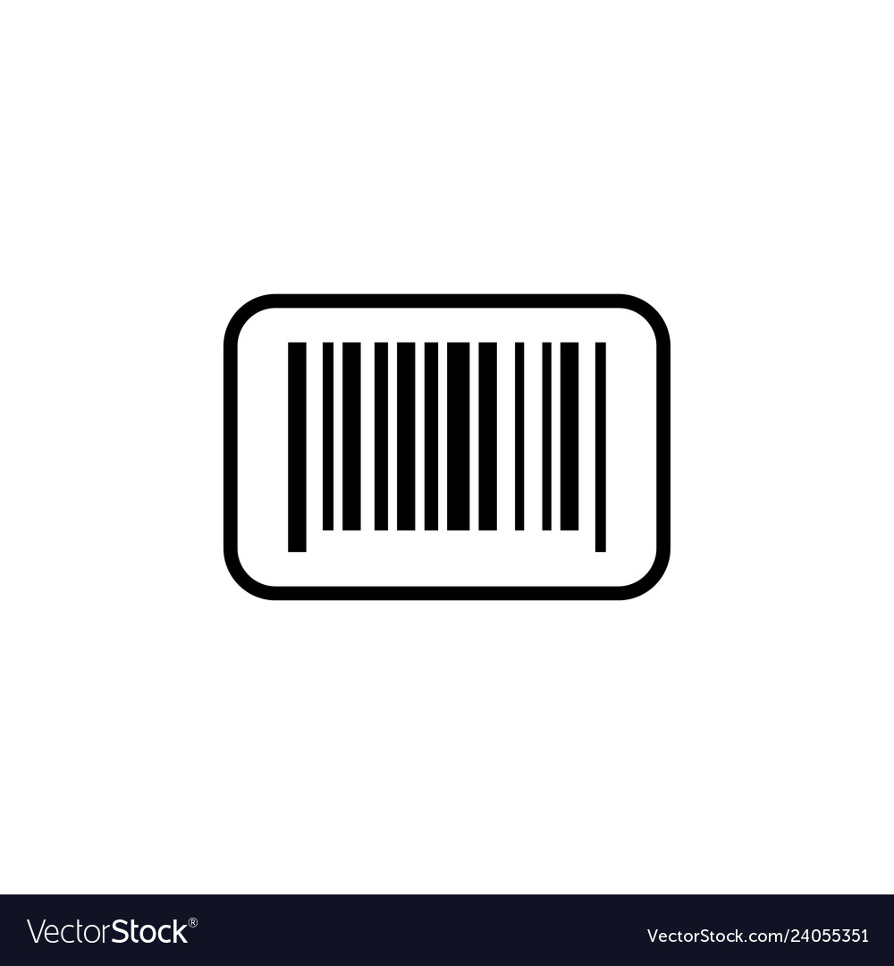 Barcode icon design template isolated