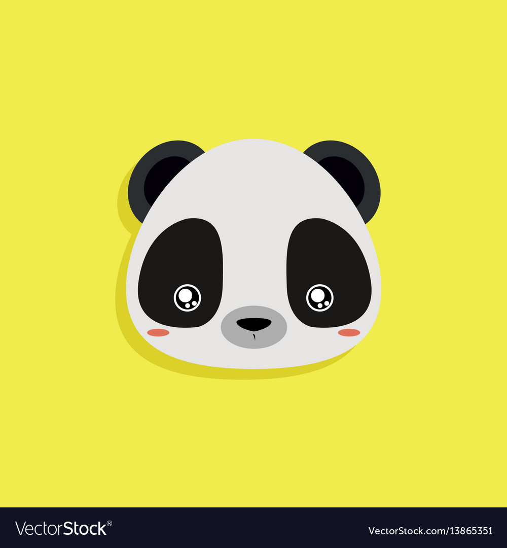 Cartoon panda face vector image