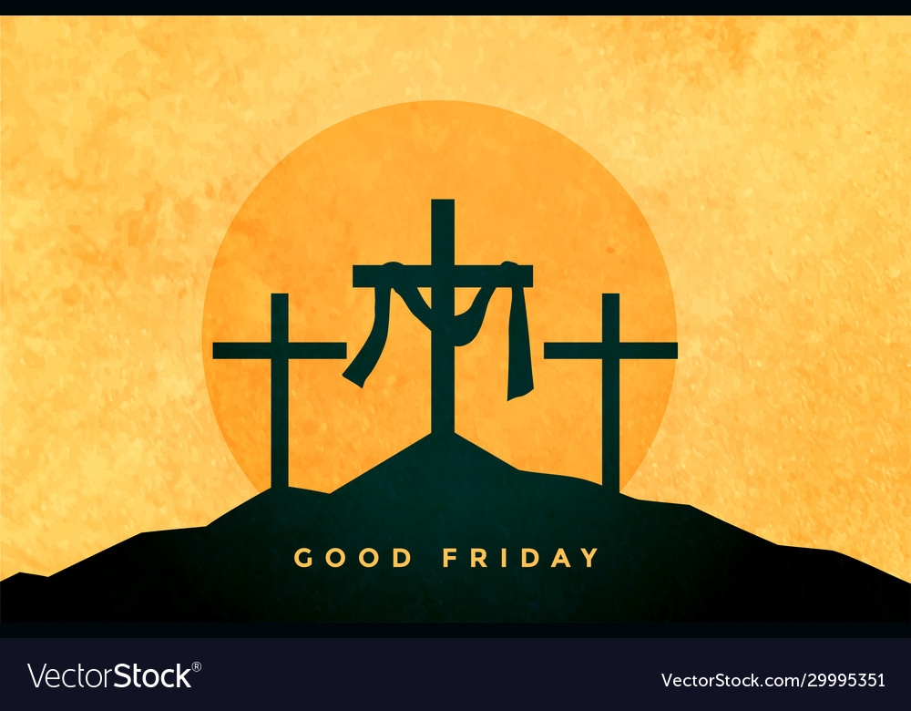 Good friday or easter day background design