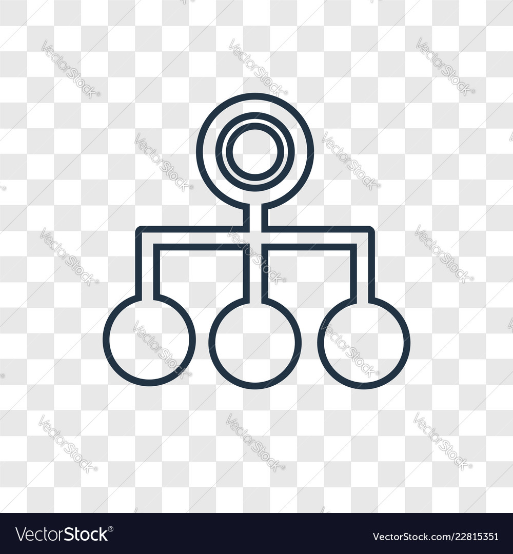Hierarchical structure concept linear icon