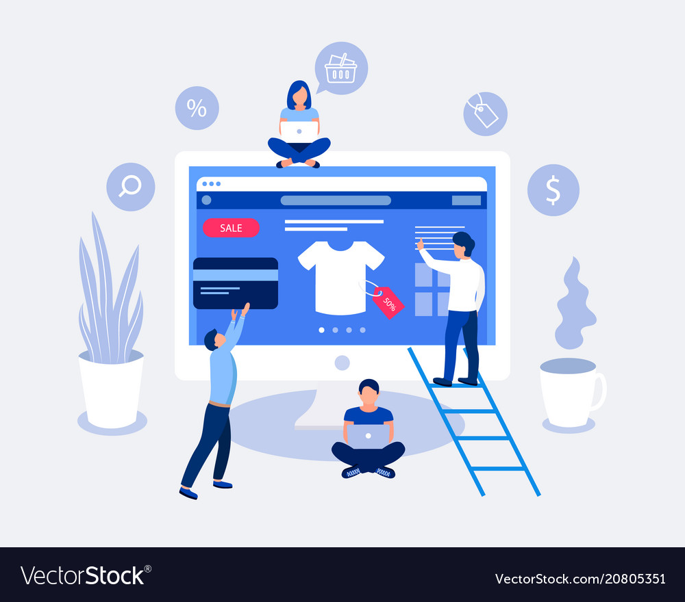 Online shopping design concept