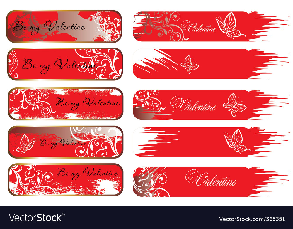 Valentine's banners vector image