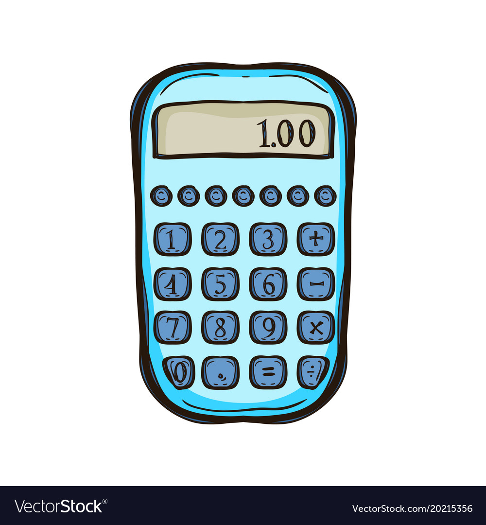 Calculator isolated equipment for business
