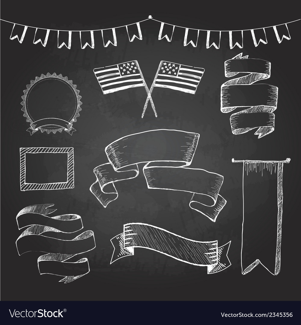 Chalkboard labels ribbons and stickers