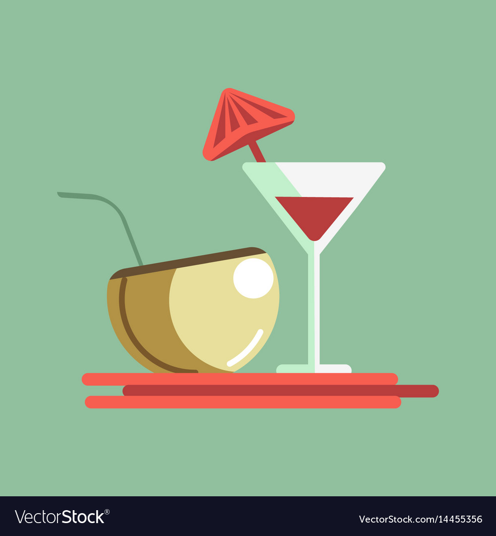 Cocktails on the server vector image