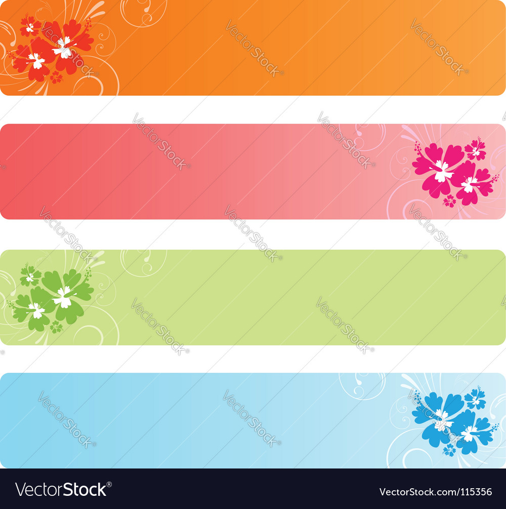 Colorful banners with florals vector image