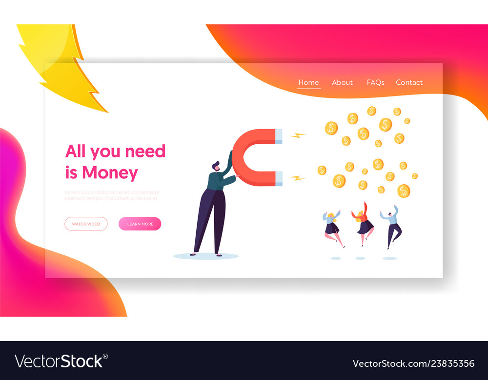 Financial business income growth concept web page