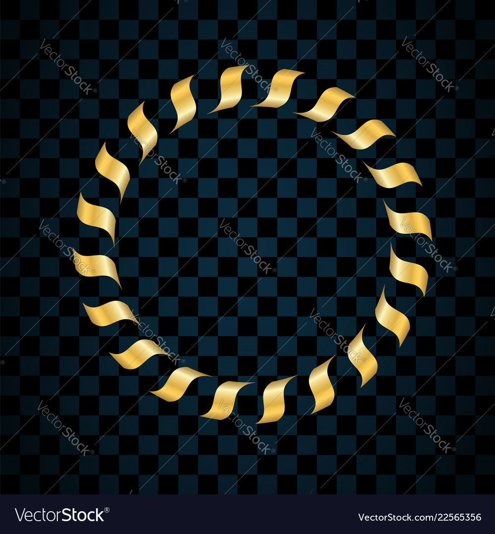 Gold ring isolated on transparent black background