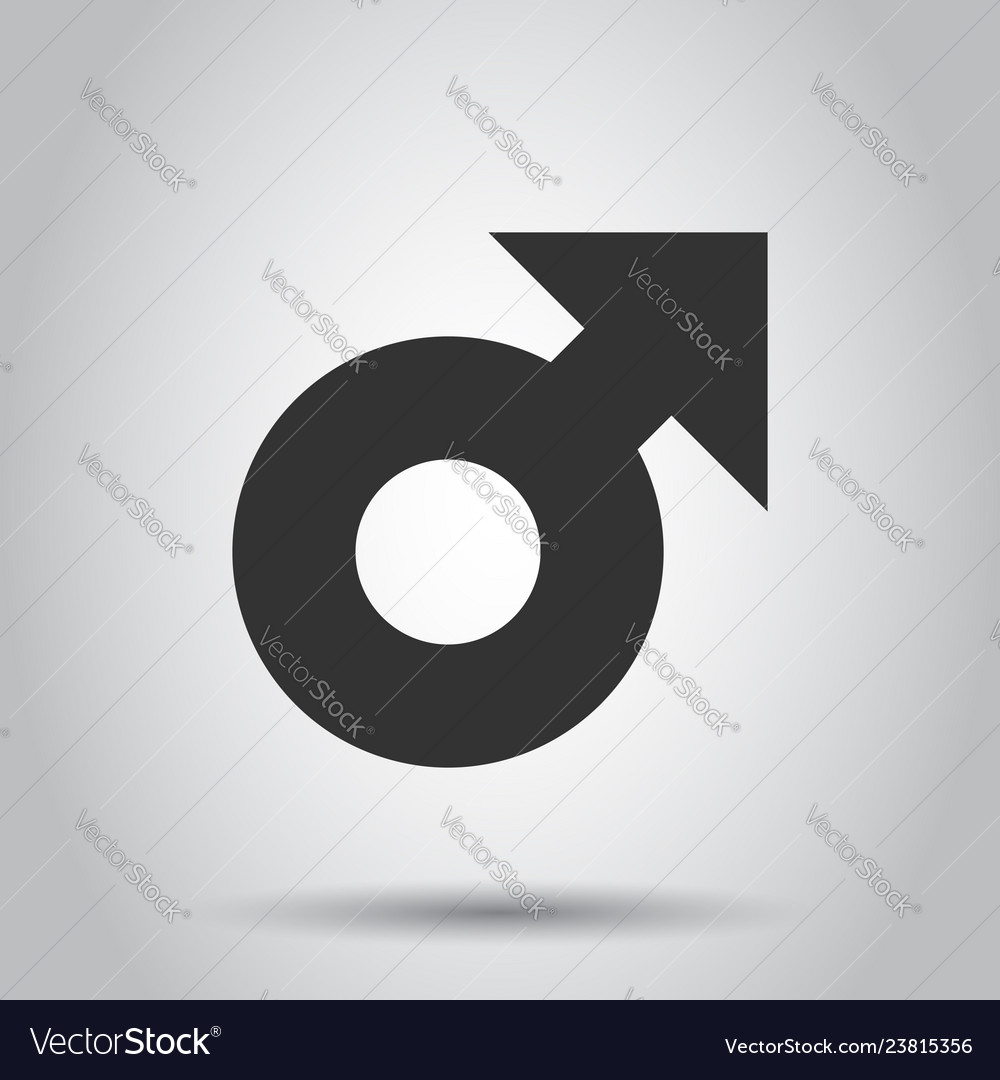 Male sex symbol icon in flat style men gender on