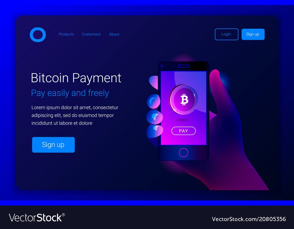 Mobile bitcoin payment concept