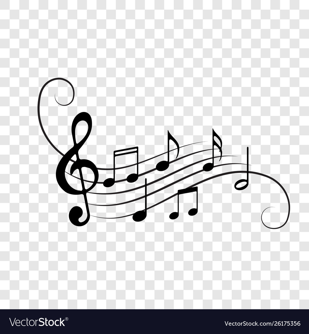 Music notes staff icons background
