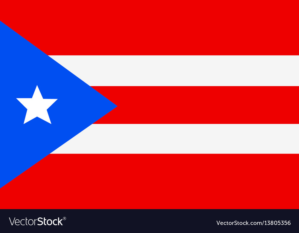 Independence Day.Puerto Rico Flag For Independence Day And Vector Image