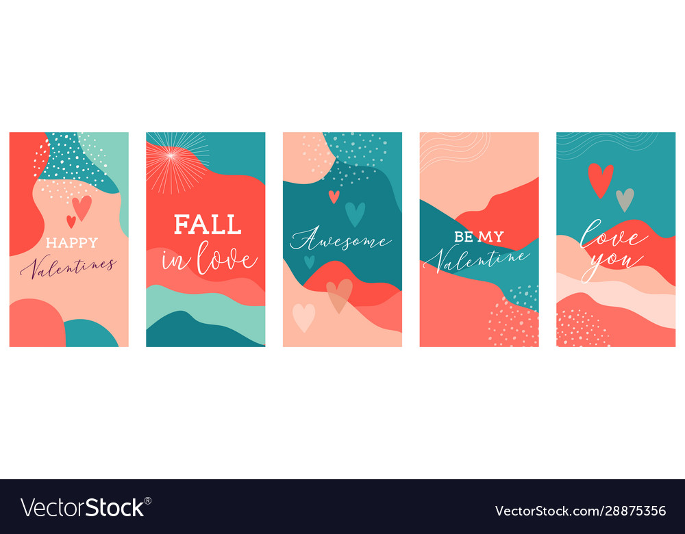 Set valentines day abstract backgrounds