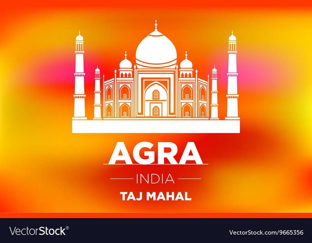 Sunrise agra Taj Mahal india orange