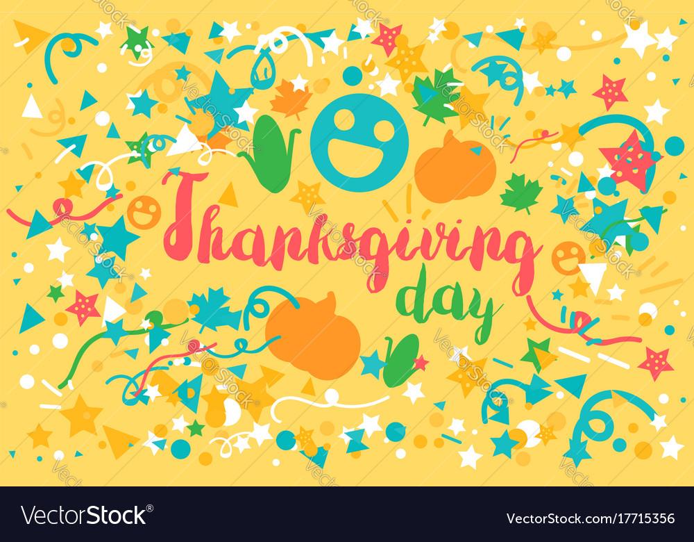 Thanksgiving day celebration banner vector image